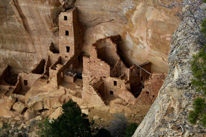 Κατοικίες απότομων βράχων στα εθνικά πάρκα Mesa Verde/Κολοράντο το /USA στοκ εικόνες με δικαίωμα ελεύθερης χρήσης