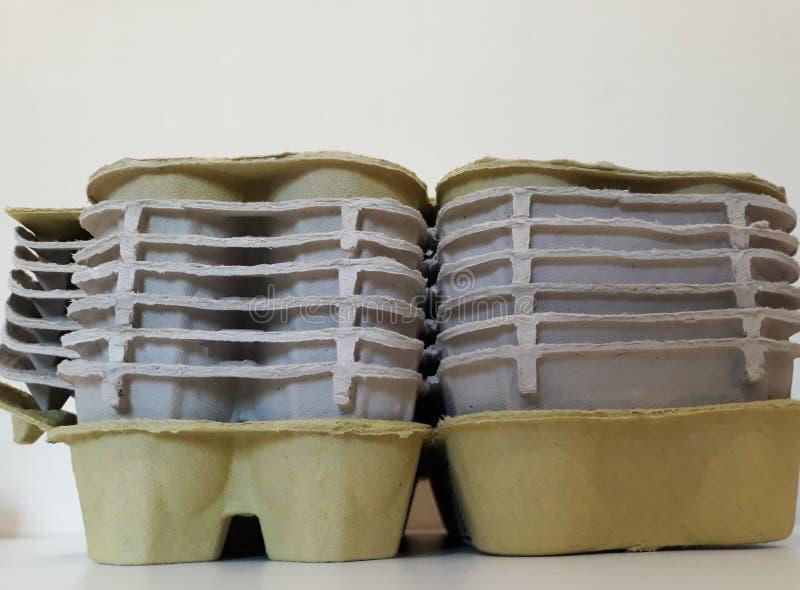 κενά χαρτοκιβώτια αυγών στοκ εικόνα με δικαίωμα ελεύθερης χρήσης