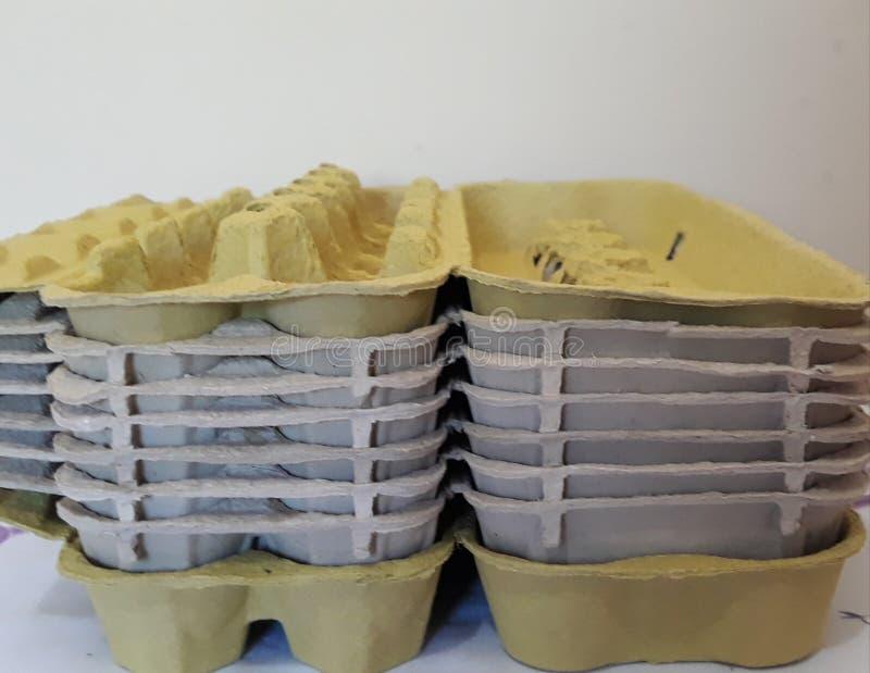 κενά χαρτοκιβώτια αυγών στοκ φωτογραφίες με δικαίωμα ελεύθερης χρήσης