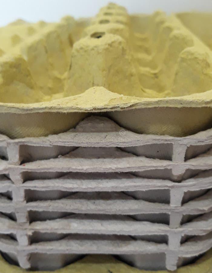 κενά χαρτοκιβώτια αυγών στοκ εικόνα