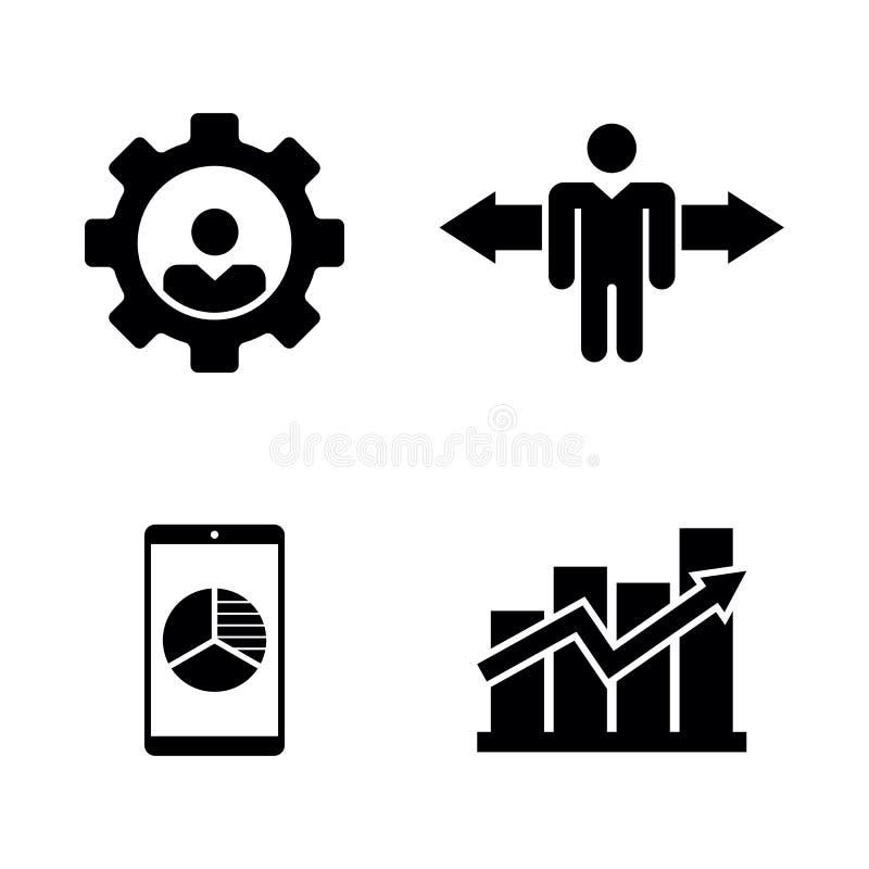 Κενή θέση εργασίας, αναζήτηση εργασίας Απλά σχετικά διανυσματικά εικονίδια διανυσματική απεικόνιση