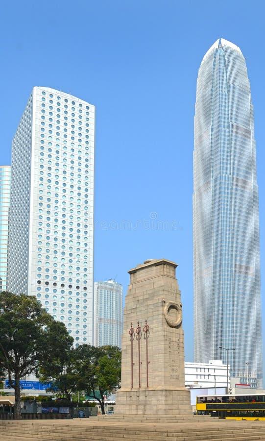 Κενοτάφιο στην κεντρική περιοχή, Χονγκ Κονγκ, Κίνα Ένα αποικιακό μνημείο εποχής στους βρετανικούς στρατιώτες του παγκόσμιου πολέμ στοκ φωτογραφία με δικαίωμα ελεύθερης χρήσης