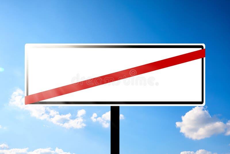 Κενός πίνακας διαφημίσεων οδικών σημαδιών στοκ εικόνα