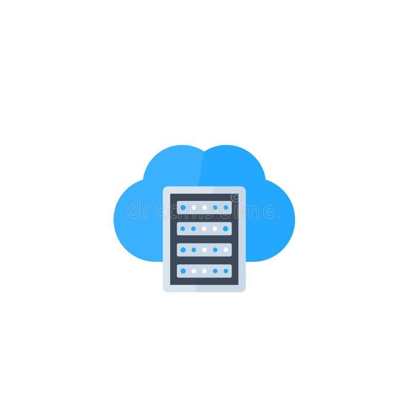 Κεντρικός υπολογιστής, φιλοξενία, εικονίδιο αποθήκευσης σύννεφων απεικόνιση αποθεμάτων