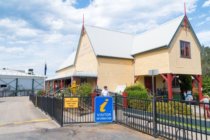 Κεντρικό κατάστημα κληρονομιάς τυριών Bega και κέντρο πληροφόρησης στην ιστορική πόλη Bega, NSW, Αυστραλία, καλά - που είναι γνωσ στοκ φωτογραφία με δικαίωμα ελεύθερης χρήσης