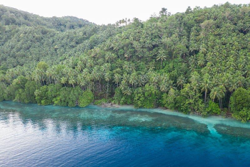 Κεραία της τροπικής ακτής νησιών στη Παπούα Νέα Γουϊνέα στοκ φωτογραφία