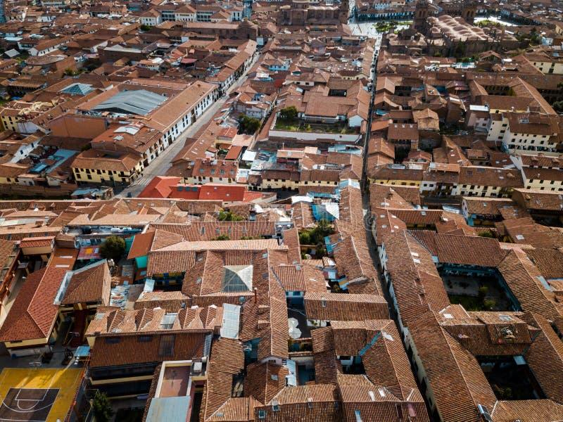 κεραία των στεγών σε Cuzco Περού στοκ εικόνες