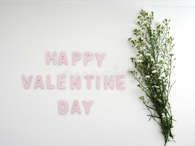 Κιβώτιο δώρων με την ημέρα βαλεντίνων λουλουδιών στοκ φωτογραφία με δικαίωμα ελεύθερης χρήσης