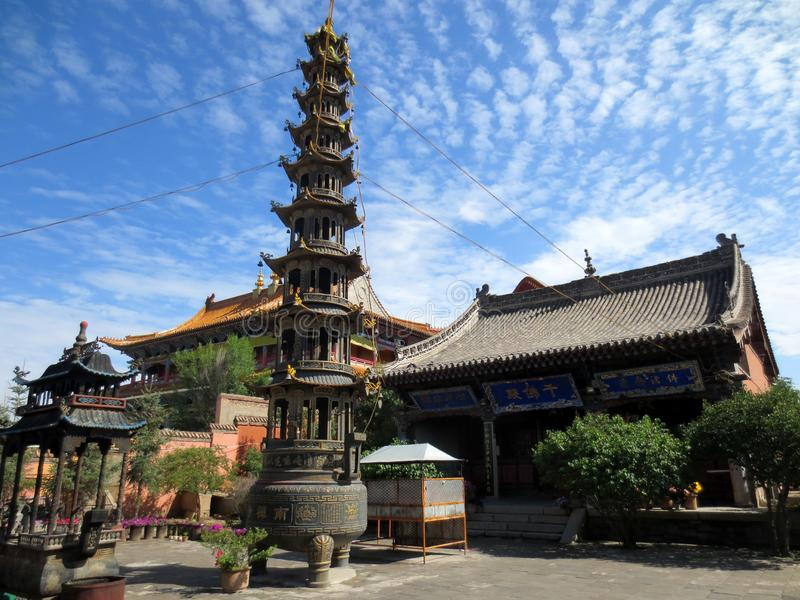 Κινεζικός ναός, πύργος θυμιάματος στοκ εικόνα με δικαίωμα ελεύθερης χρήσης