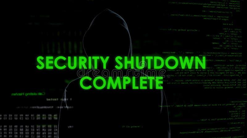 Κλείσιμο ασφάλειας πλήρες, cyberattack στο σύστημα εθνικής ασφαλείας, τρομοκρατία στοκ εικόνες με δικαίωμα ελεύθερης χρήσης