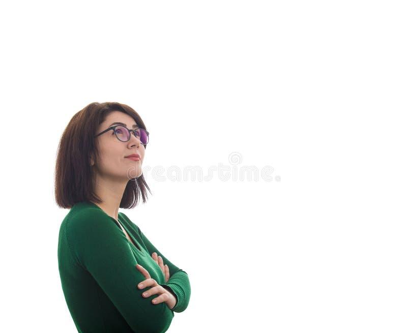 κοίταγμα επάνω στη γυναίκα στοκ εικόνες