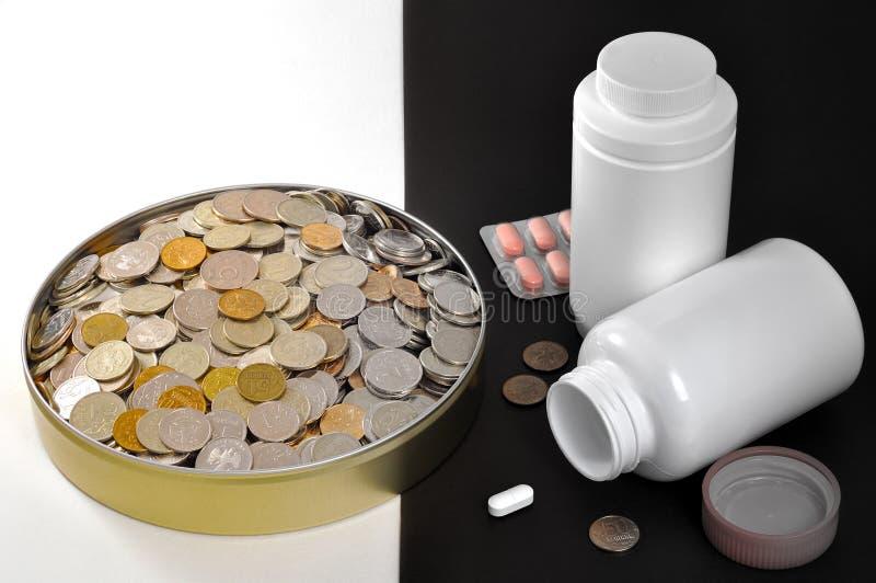 Κοινωνικά φάρμακα χρημάτων αδικίας στοκ εικόνα με δικαίωμα ελεύθερης χρήσης