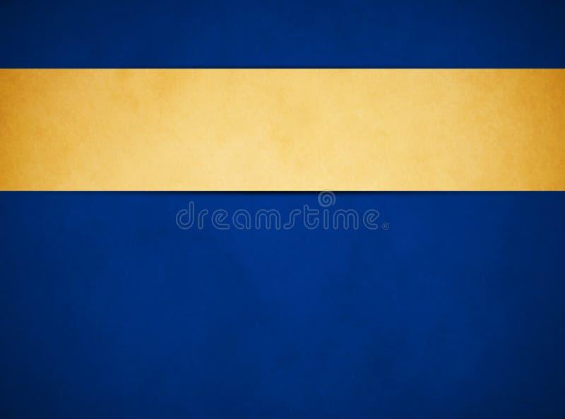 Κομψό πλούσιο μπλε υπόβαθρο grunge Χρυσό έμβλημα της Tan ελεύθερη απεικόνιση δικαιώματος