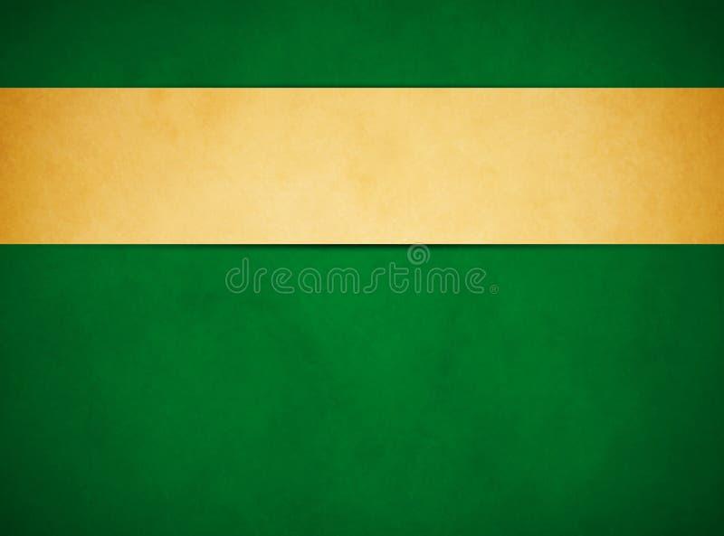 Κομψό πλούσιο πράσινο υπόβαθρο grunge Χρυσό έμβλημα της Tan στοκ εικόνες
