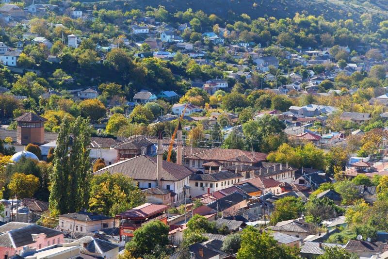 Κορυφή κάτω από την άποψη σχετικά με το παλάτι Bakhchisaray στοκ εικόνες με δικαίωμα ελεύθερης χρήσης