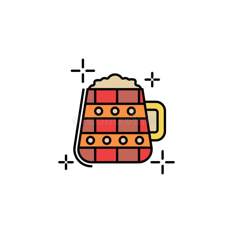 """Κούπα, εικονίδιο ημέρας του ST Πάτρικ \ """"s Στοιχείο του εικονιδίου ημέρας του ST Patricks χρώματος Γραφικό εικονίδιο σχεδίου εξαι ελεύθερη απεικόνιση δικαιώματος"""