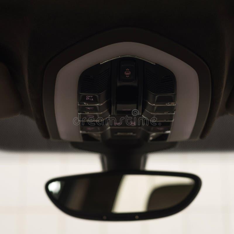 Κουμπιά αυτοκινήτων sunroof στοκ εικόνα με δικαίωμα ελεύθερης χρήσης