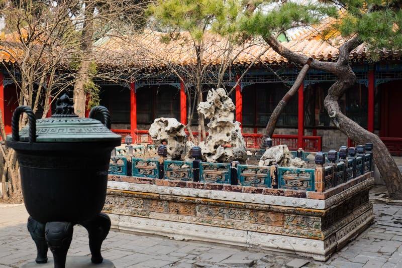 Κρυμμένοι κήποι στην απαγορευμένη πόλη, Πεκίνο Κίνα στοκ εικόνες με δικαίωμα ελεύθερης χρήσης