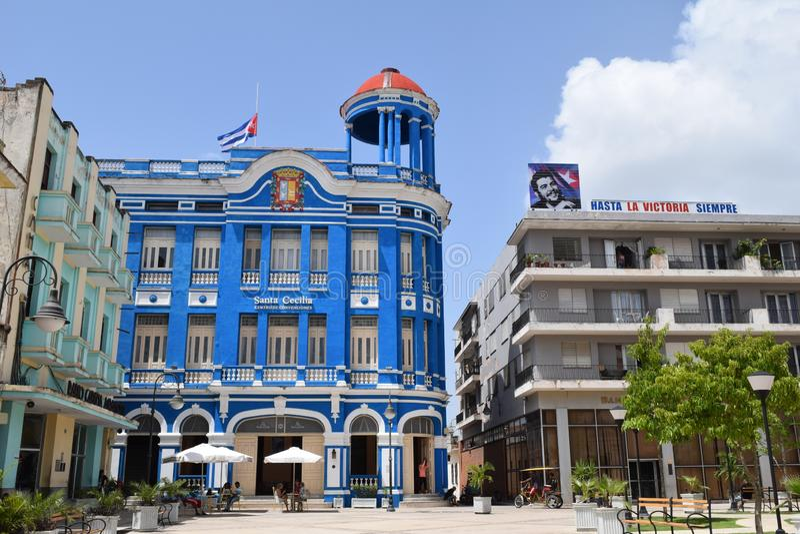 Κύριο τετράγωνο σε Cienfuegos Κούβα στοκ εικόνα με δικαίωμα ελεύθερης χρήσης