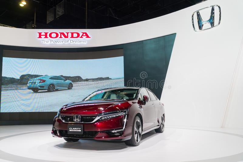 Κύτταρο καυσίμου σαφήνειας της Honda στη έκθεση αυτοκινήτου της Κουάλα Λουμπούρ στοκ εικόνες με δικαίωμα ελεύθερης χρήσης