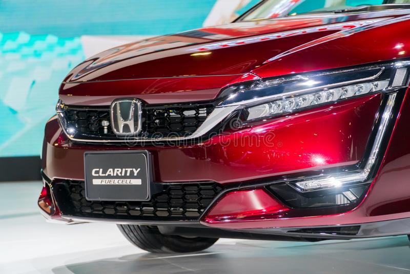 Κύτταρο καυσίμου σαφήνειας της Honda στη έκθεση αυτοκινήτου της Κουάλα Λουμπούρ στοκ φωτογραφία με δικαίωμα ελεύθερης χρήσης