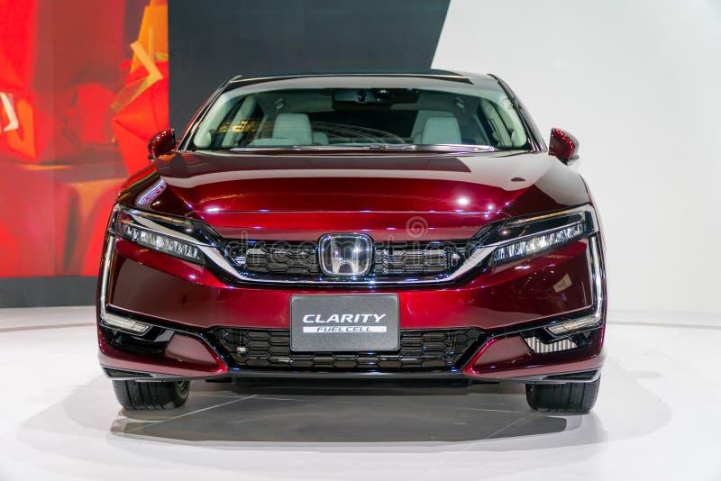 Κύτταρο καυσίμου σαφήνειας της Honda στη έκθεση αυτοκινήτου της Κουάλα Λουμπούρ στοκ εικόνα με δικαίωμα ελεύθερης χρήσης