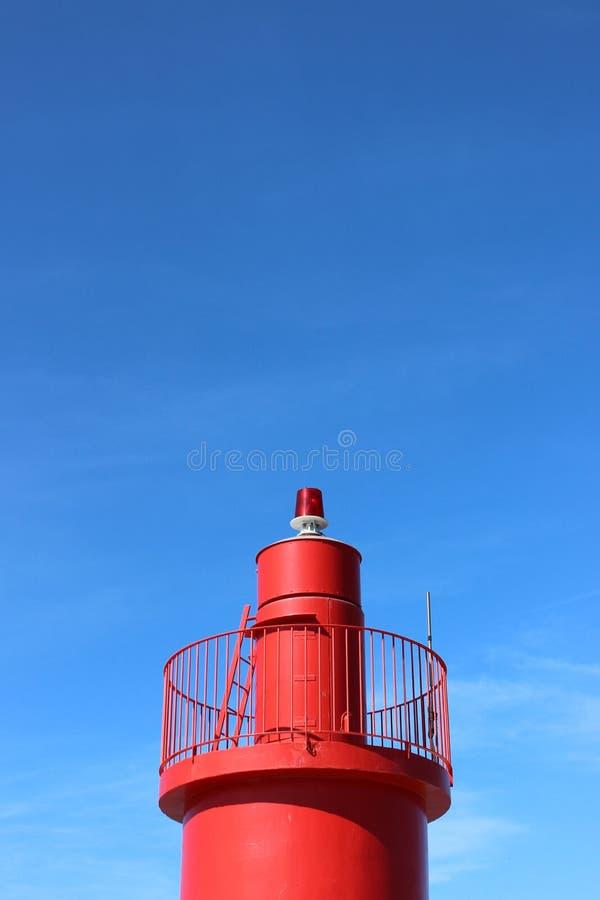 Κόκκινος φάρος στην πόλη Trani στοκ φωτογραφία