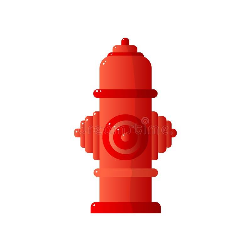 Κόκκινο επίπεδο εικονίδιο στομίων υδροληψίας πυρκαγιάς που απομονώνεται στο άσπρο υπόβαθρο ελεύθερη απεικόνιση δικαιώματος