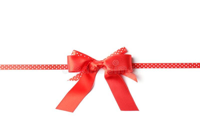 κόκκινο λευκό κορδελλ διακόσμηση εορταστική στοκ φωτογραφίες με δικαίωμα ελεύθερης χρήσης