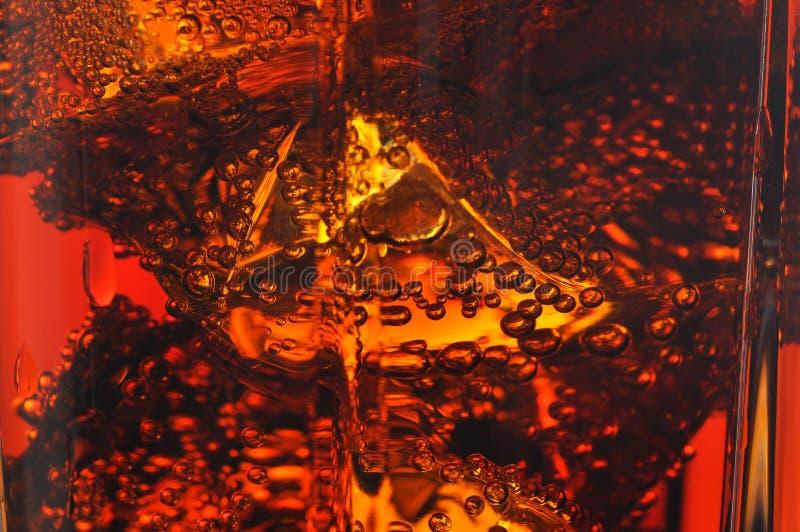 Κόλα με τον πάγο Μακροεντολή στοκ εικόνες με δικαίωμα ελεύθερης χρήσης