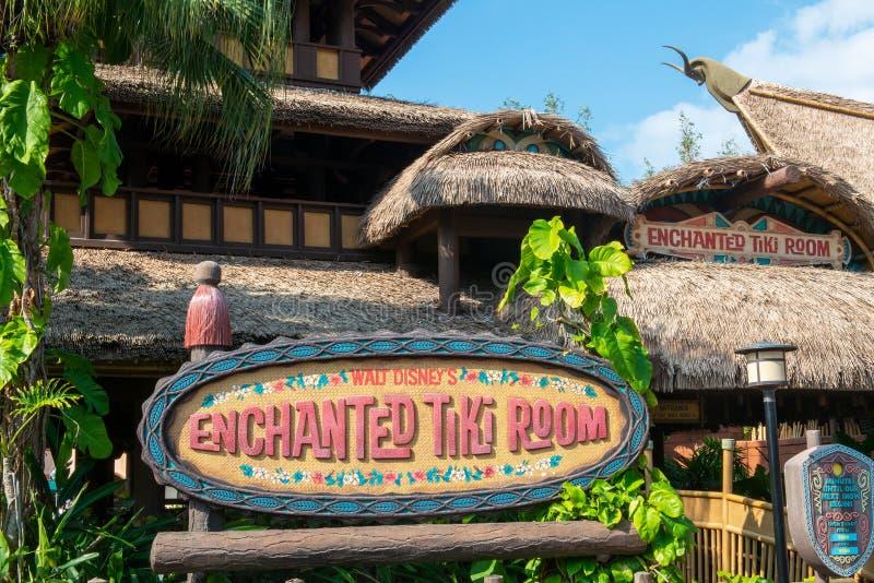 Κόσμος της Disney, μαγικό βασίλειο, δωμάτιο Enchanted Tiki, ταξίδι, Φλώριδα στοκ εικόνα