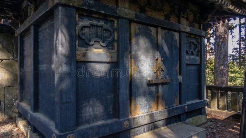 Κτήρια από την εσωτερική λάρνακα στη λάρνακα Toshogu στοκ εικόνα με δικαίωμα ελεύθερης χρήσης
