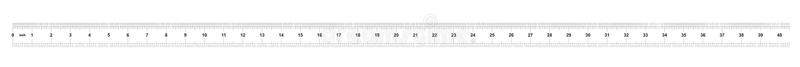 Κυβερνήτης 40 ίντσες αυτοκρατορικός Κυβερνήτης 160 ίντσες μετρικός Ακριβές μετρώντας εργαλείο Πλέγμα βαθμολόγησης απεικόνιση αποθεμάτων