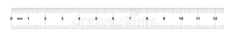 Κυβερνήτης 12 ίντσες αυτοκρατορικός Κυβερνήτης 160 ίντσες μετρικός Ακριβές μετρώντας εργαλείο Πλέγμα βαθμολόγησης διανυσματική απεικόνιση