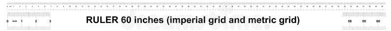 Κυβερνήτης 60 ίντσες αυτοκρατορικός Κυβερνήτης 160 ίντσες μετρικός Ακριβές μετρώντας εργαλείο Πλέγμα βαθμολόγησης απεικόνιση αποθεμάτων
