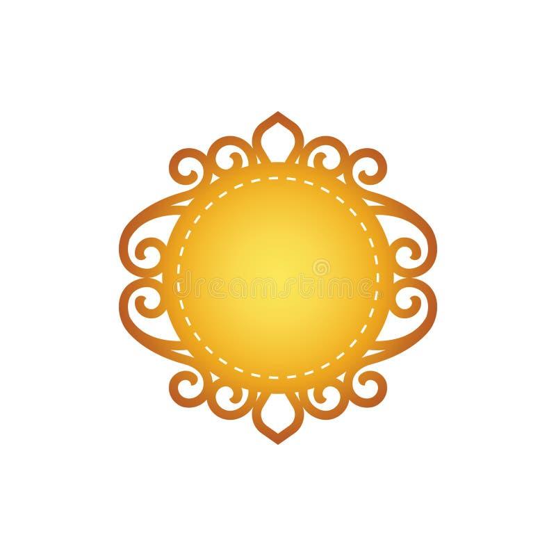 Κυκλικό πρότυπο εικονιδίων με έναν κλασικό filigree απεικόνιση αποθεμάτων