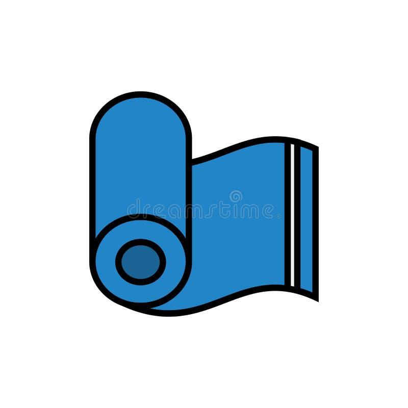 Κυλημένο εικονίδιο πετσετών απλός γραφικός ελεύθερη απεικόνιση δικαιώματος