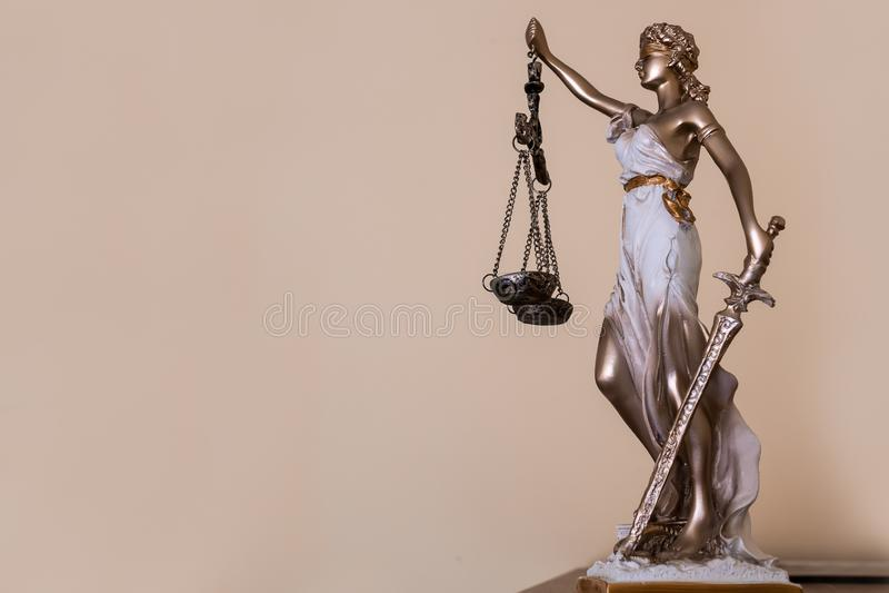 Κυρία της δικαιοσύνης Θέμα νόμου στοκ εικόνα