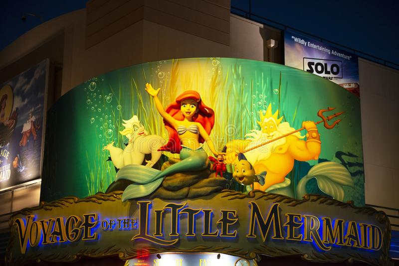 Λίγη γοργόνα, κόσμος της Disney, στούντιο διακοπών, ταξίδι στοκ εικόνα