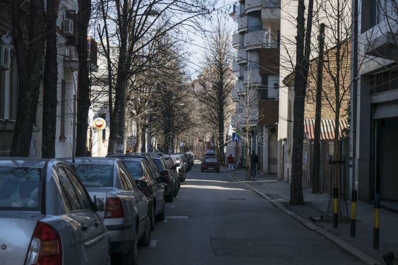 Λίγη οδός μεταβάσεων στο κέντρο Βελιγραδι'ου στοκ φωτογραφία με δικαίωμα ελεύθερης χρήσης