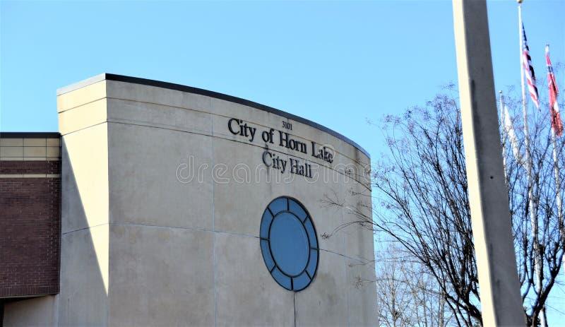 Λίμνη Μισισιπής κέρατων του Δημαρχείου στοκ εικόνες