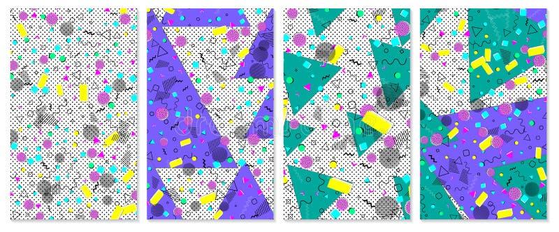 Λαϊκό υπόβαθρο χρώματος τέχνης Σύνολο σχεδίου της Μέμφιδας στοκ εικόνα με δικαίωμα ελεύθερης χρήσης