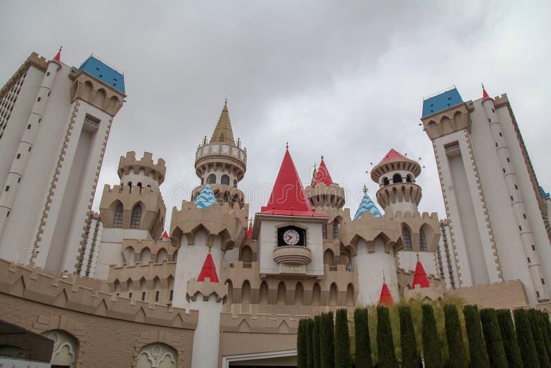 Λας Βέγκας, ΗΠΑ 8 Δεκεμβρίου 2018: Το ξενοδοχείο και η χαρτοπαικτική λέσχη EXCALIBUR είναι μεγάλη χαρτοπαικτική λέσχη σε Las Vaga στοκ φωτογραφίες