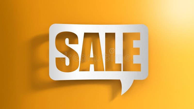 Λεκτική φυσαλίδα με την πώληση ελεύθερη απεικόνιση δικαιώματος