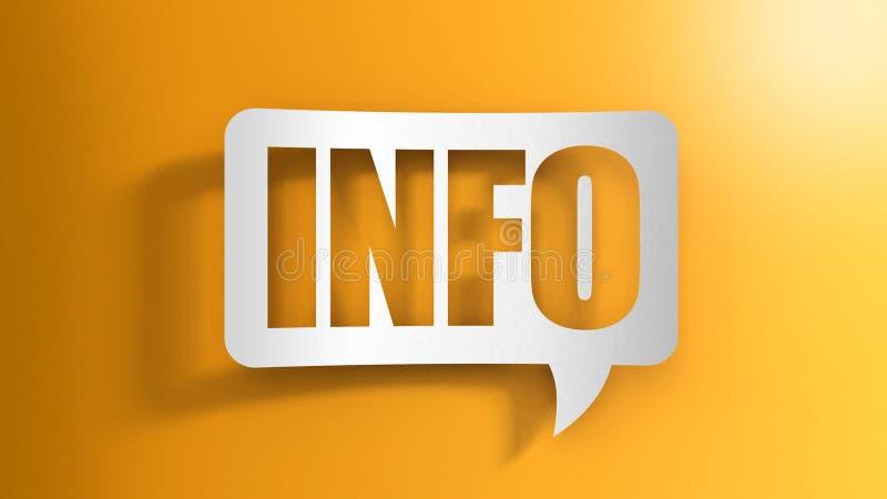 Λεκτική φυσαλίδα με τις πληροφορίες διανυσματική απεικόνιση