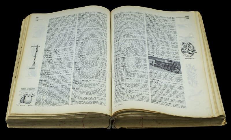 λεξικό βιβλίων ανοικτό στοκ φωτογραφία με δικαίωμα ελεύθερης χρήσης