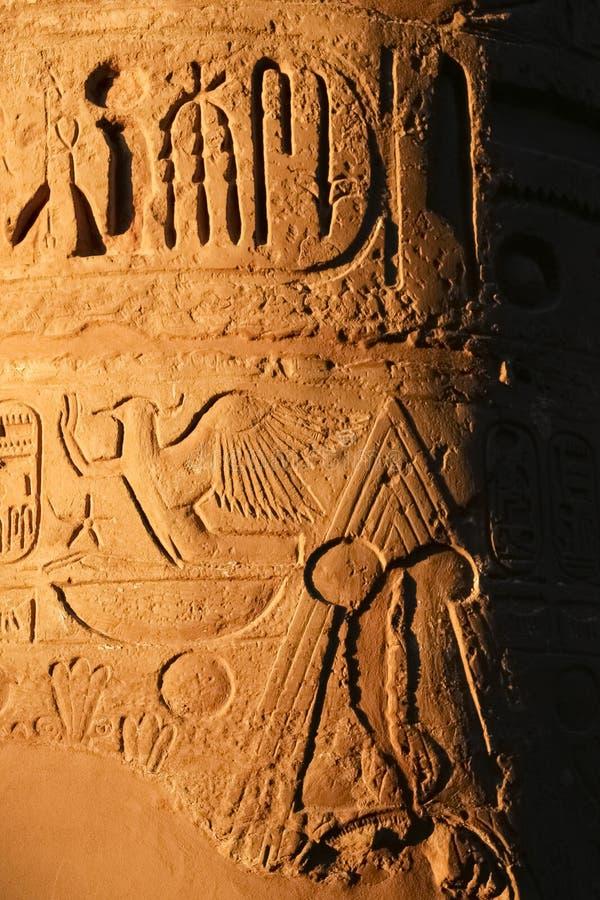 Λεπτομέρεια στο ναό Karnak στοκ εικόνα με δικαίωμα ελεύθερης χρήσης
