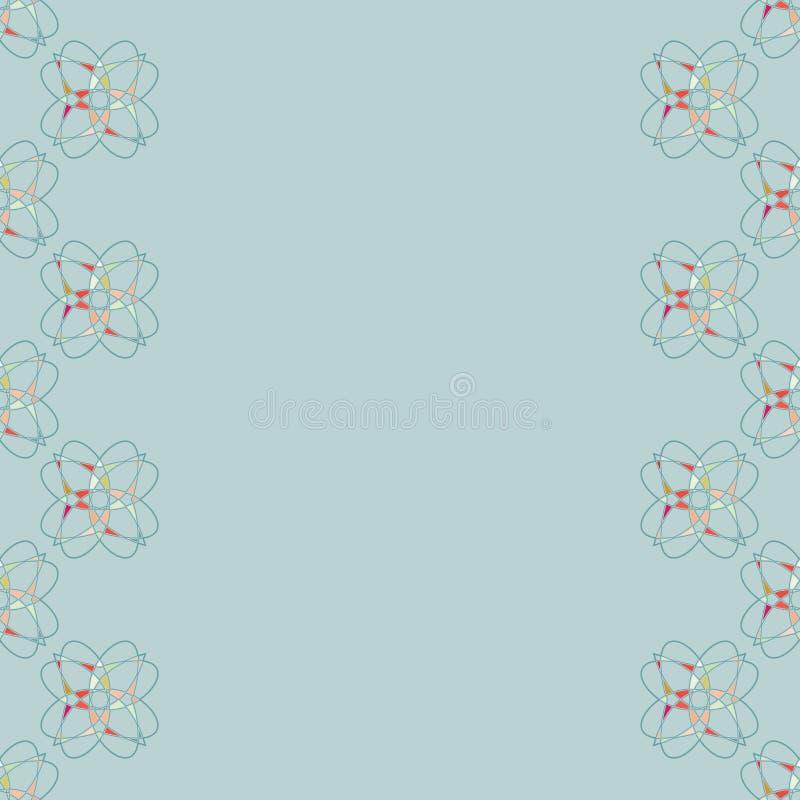 λεπτομερές ανασκόπηση floral διάνυσμα σχεδίων φυσική διακόσμηση 1 πρόσκληση καρτών Φυλλάδιο με το κενό διάστημα για το κείμενο απεικόνιση αποθεμάτων