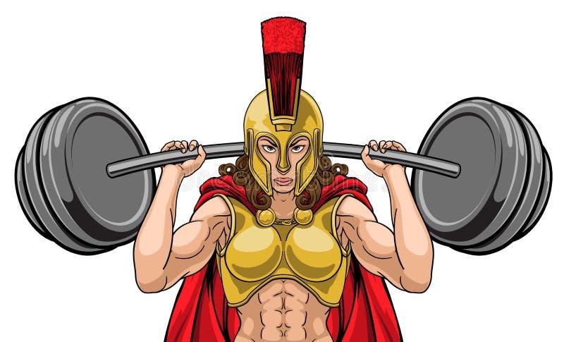 Λιτή τρωική αθλητική μασκότ γυναικών απεικόνιση αποθεμάτων