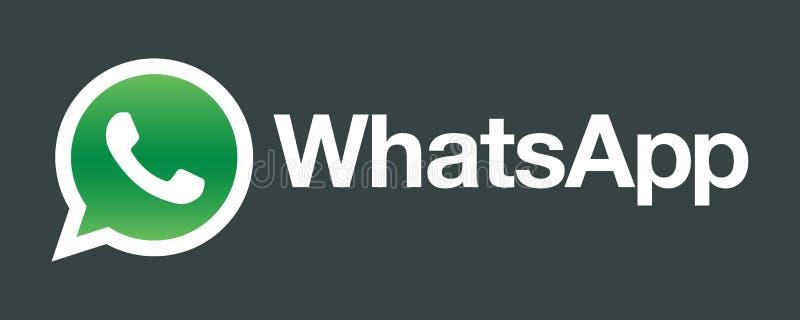 Λογότυπο εικονιδίων Whatsapp διανυσματική απεικόνιση